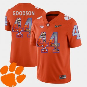#44 Pictorial Fashion Football B.J. Goodson Clemson Jersey For Men's Orange 725500-701