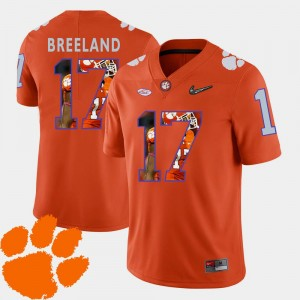 Pictorial Fashion #17 Men's Bashaud Breeland Clemson Jersey Football Orange 547341-233