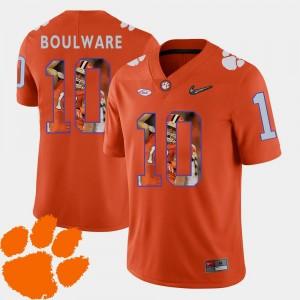 Orange Football Pictorial Fashion Men #10 Ben Boulware Clemson Jersey 511912-856