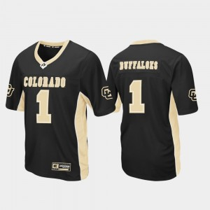 Colorado Jersey Black Mens #1 Football Max Power 178238-758
