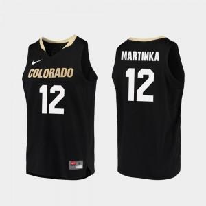 Black AJ Martinka Colorado Jersey For Men's College Basketball #12 Replica 909778-131