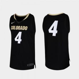 Replica Colorado Jersey Black Men College Basketball #4 785230-379