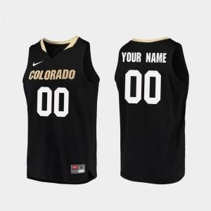 Replica Colorado Customized Jersey #00 Black Mens College Basketball 122765-339