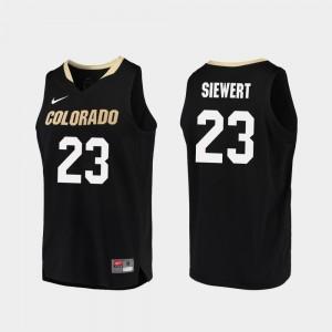 #23 Black Replica College Basketball Mens Lucas Siewert Colorado Jersey 447579-435