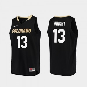Namon Wright Colorado Jersey #13 Men Replica College Basketball Black 135414-898