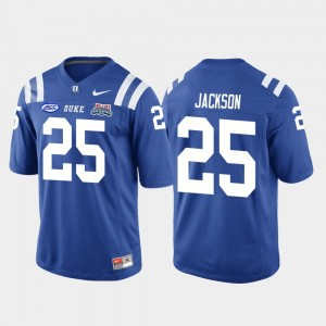 Deon Jackson Duke Jersey College Football Game #25 Royal 2018 Independence Bowl For Men's 869552-189
