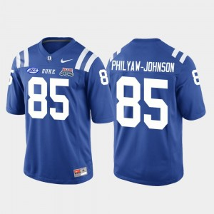 College Football Game Damond Philyaw-Johnson Duke Jersey 2018 Independence Bowl #85 For Men Royal 762597-951