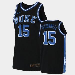 2019-20 College Basketball Mens #15 Black Alex O'Connell Duke Jersey Replica 763091-890