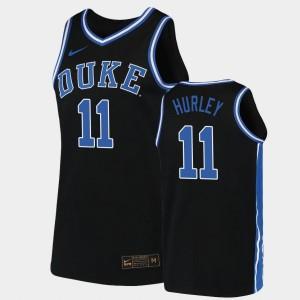 2019-20 College Basketball Bobby Hurley Duke Jersey #11 Black Replica Mens 116087-629