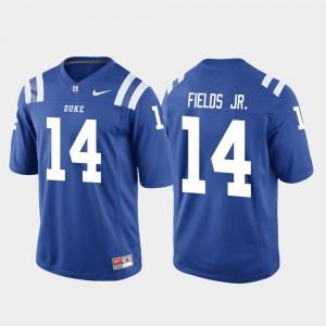 #14 College Football Bryon Fields Jr. Duke Jersey Men's Game Royal 354327-456