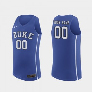 Royal Authentic #00 Men's March Madness College Basketball Duke Customized Jersey 635552-256