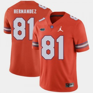 Replica 2018 Game #81 Aaron Hernandez Gators Jersey Jordan Brand Orange For Men's 450837-484