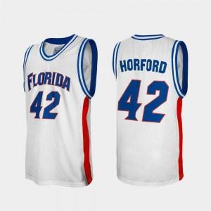 Alumni Al Horford Gators Jersey White For Men College Basketball #42 962952-881