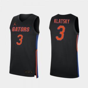 Replica Men 2019-20 College Basketball #3 Alex Klatsky Gators Jersey Black 513213-941