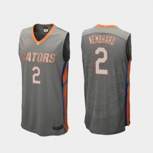 College Basketball Mens #2 Gray Replica Andrew Nembhard Gators Jersey 322484-416