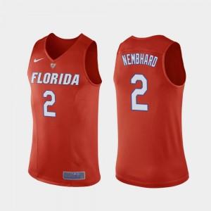 #2 For Men College Basketball Andrew Nembhard Gators Jersey Replica Orange 152853-676