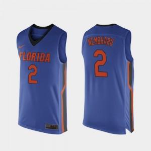 Replica Royal Blue #2 For Men's College Basketball Andrew Nembhard Gators Jersey 260478-400
