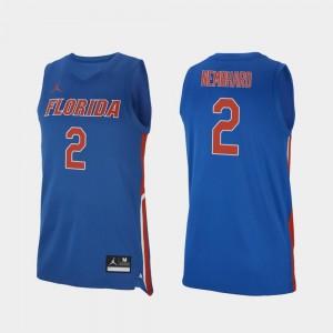 Men #2 Andrew Nembhard Gators Jersey College Basketball Royal Replica 566600-457