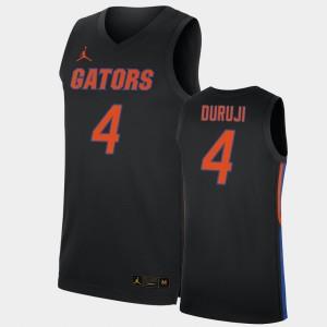 2019-20 College Basketball Replica #4 Mens Anthony Duruji Gators Jersey Black 608471-780