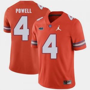 Replica 2018 Game Orange Jordan Brand Brandon Powell Gators Jersey #4 Mens 183137-625
