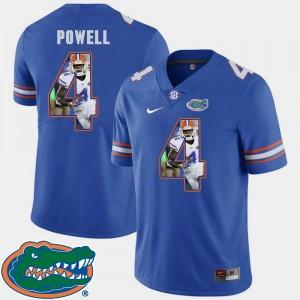 Royal Pictorial Fashion Football #4 Brandon Powell Gators Jersey Men 655699-948
