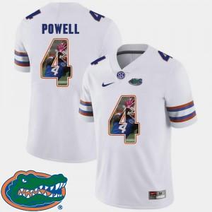 Brandon Powell Gators Jersey Pictorial Fashion For Men #4 White Football 596693-970