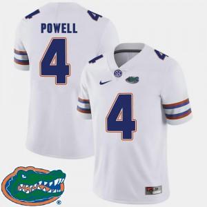 2018 SEC #4 College Football White Brandon Powell Gators Jersey Men 556690-657