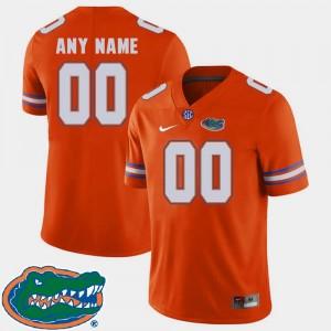 Gators Custom Jerseys #00 Orange For Men 2018 SEC College Football 345721-930