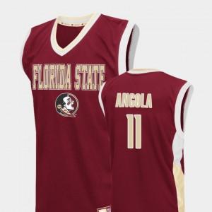 Braian Angola FSU Jersey Red For Men's #11 Fadeaway College Basketball 800535-809