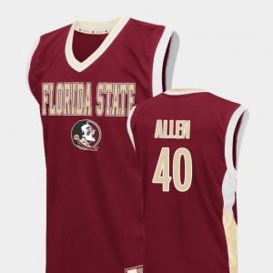 Brandon Allen FSU Jersey Men's Red College Basketball #40 Fadeaway 191133-952