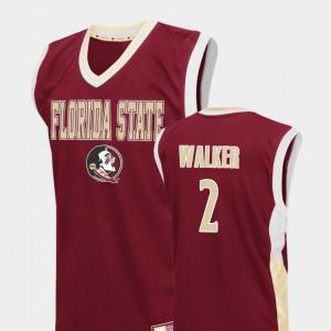 College Basketball Fadeaway #2 Red Mens CJ Walker FSU Jersey 799768-371