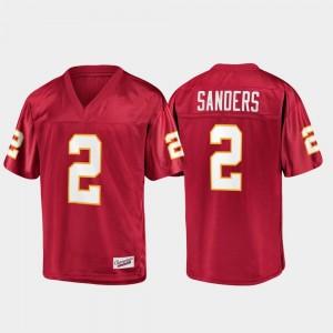 Champions Collection Garnet #2 For Men's Deion Sanders FSU Jersey 543701-759