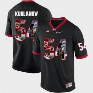 Men's Pictorial Fashion Black #54 Brandon Kublanow UGA Jersey 906822-973