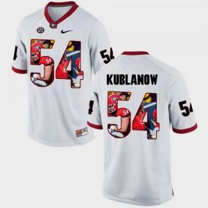 Pictorial Fashion #54 Brandon Kublanow UGA Jersey For Men White 656152-590