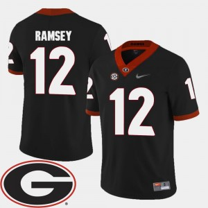 2018 SEC Patch For Men Black Brice Ramsey UGA Jersey College Football #12 343807-722