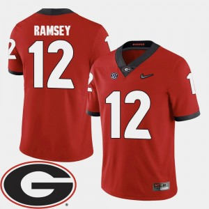 Mens #12 2018 SEC Patch Red Brice Ramsey UGA Jersey College Football 138840-851