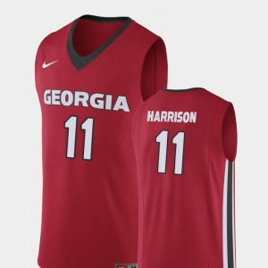 Replica Christian Harrison UGA Jersey #11 College Basketball Mens Red 956813-297