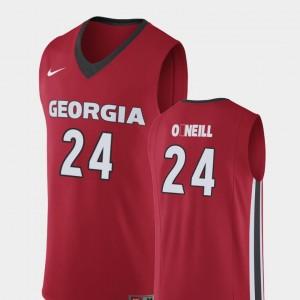 Replica Red Men #24 Connor O'Neill UGA Jersey College Basketball 880712-189