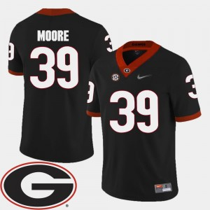 Corey Moore UGA Jersey Black For Men #39 2018 SEC Patch College Football 331297-325