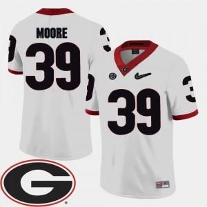 Corey Moore UGA Jersey College Football White Men 2018 SEC Patch #39 402388-530