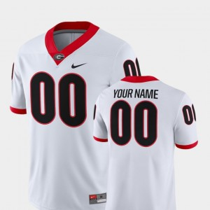 UGA Customized Jerseys For Men's White 2018 Game College Football #00 621344-493