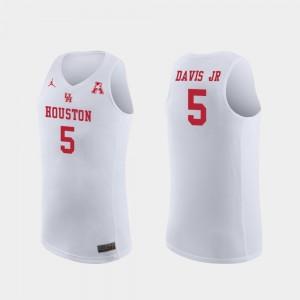 Corey Davis Jr. Houston Jersey Replica #5 College Basketball Mens White 849713-495