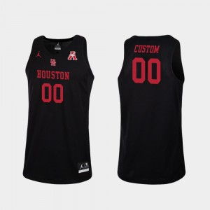 #00 Houston Customized Jerseys Men Black College Basketball Replica 147024-708