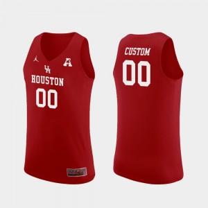 Houston Custom Jerseys College Basketball Replica Red Men's #00 464805-631