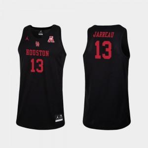 For Men's Black Dejon Jarreau Houston Jersey Replica #13 College Basketball 661384-499