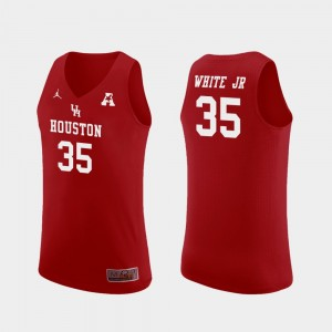 Men's Fabian White Jr. Houston Jersey #35 Replica College Basketball Red 694406-738