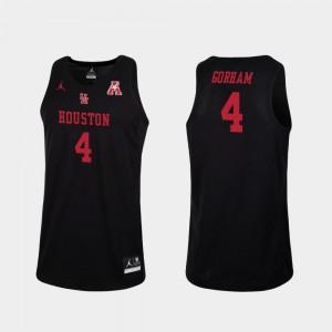 Replica Justin Gorham Houston Jersey #4 College Basketball Men's Black 846237-811