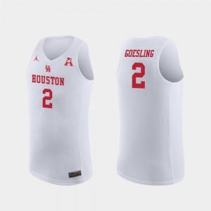 Replica White Men's Landon Goesling Houston Jersey College Basketball #2 172175-742