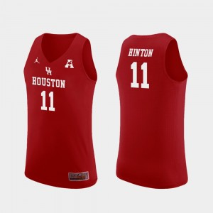 #11 Red Nate Hinton Houston Jersey College Basketball Mens Replica 958248-656