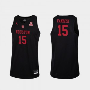 College Basketball Neil VanBeck Houston Jersey Replica For Men's Black #15 972966-626